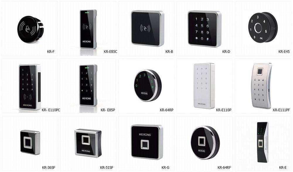 Варианты внешнего юлока электронных замков KERONG