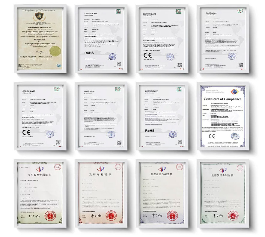 Сертификаты на продукцию компании KERONG