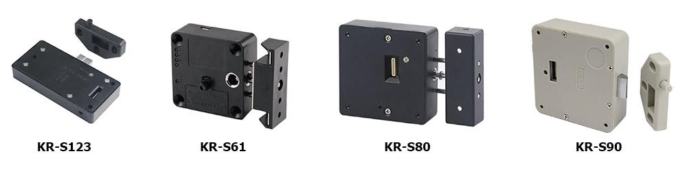 Варианты внутреннего блока в электронных замках для шкафчиков KERONG